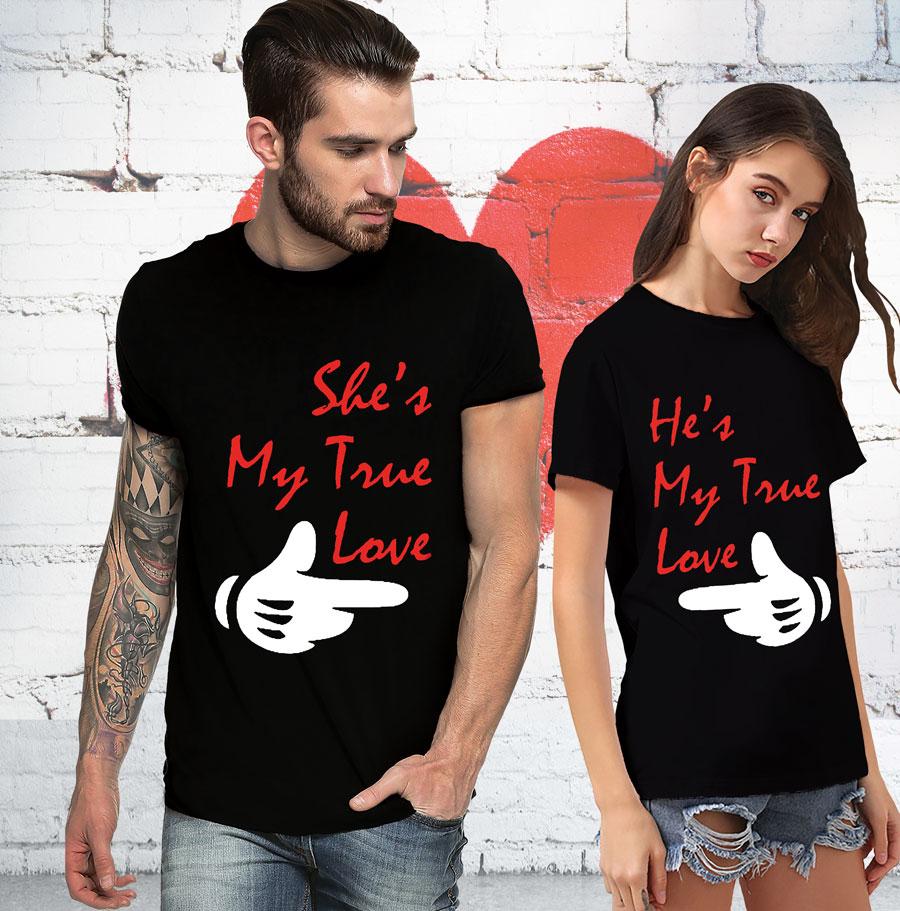 Cartoon Couple Design Tees Shirts Couple Tee Tops T Shirt: T-shirt Loot €� Customized T