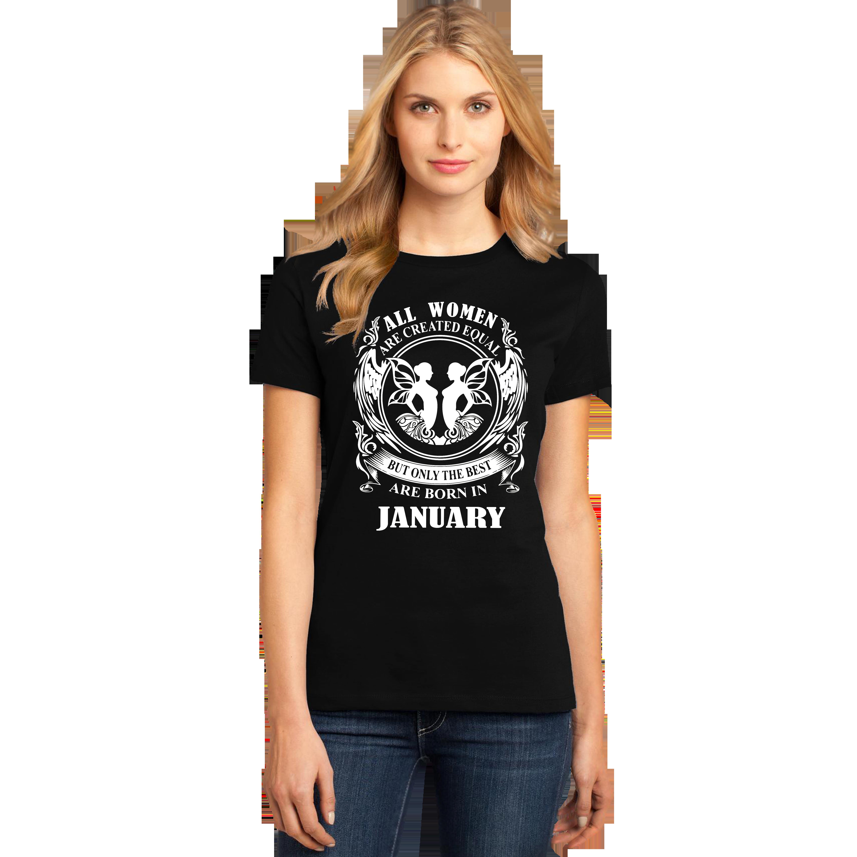 Womens January Birthday T Shirt