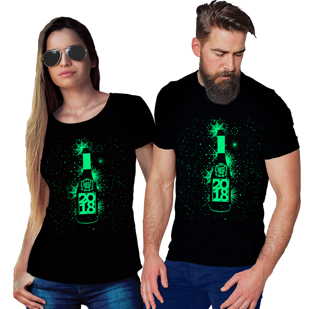 New Year Couples Glow In The Dark T Shirt T Shirt Loot