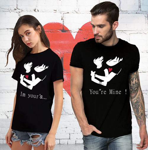 311617d64 Im Your's Your Mine T-shirt | T-shirt Loot – Customized T-shirts India | Design  own T-shirt