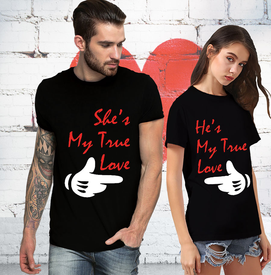 My true love couple t shirt t shirt loot customized t for Love in design