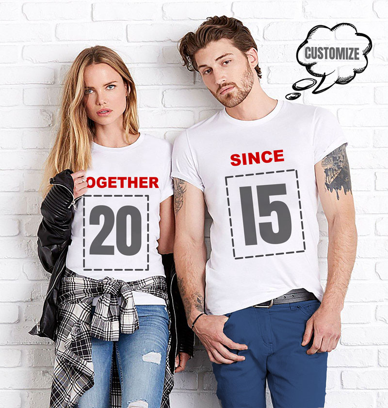 variety design 60% clearance search for official Custom Couples T-shirt