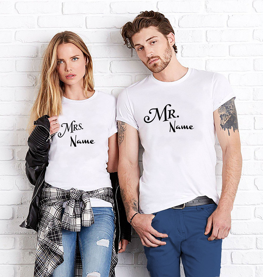 ee078ee869 Custom Mr.and Mrs.Couples T-shirt | T-shirt Loot – Customized T ...
