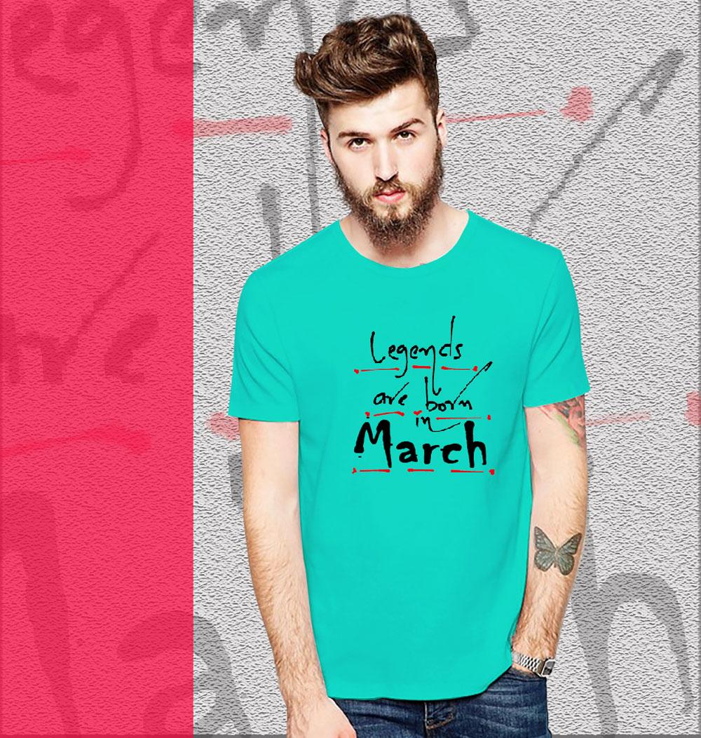 78d95145d6d Legends Born In March T-shirt
