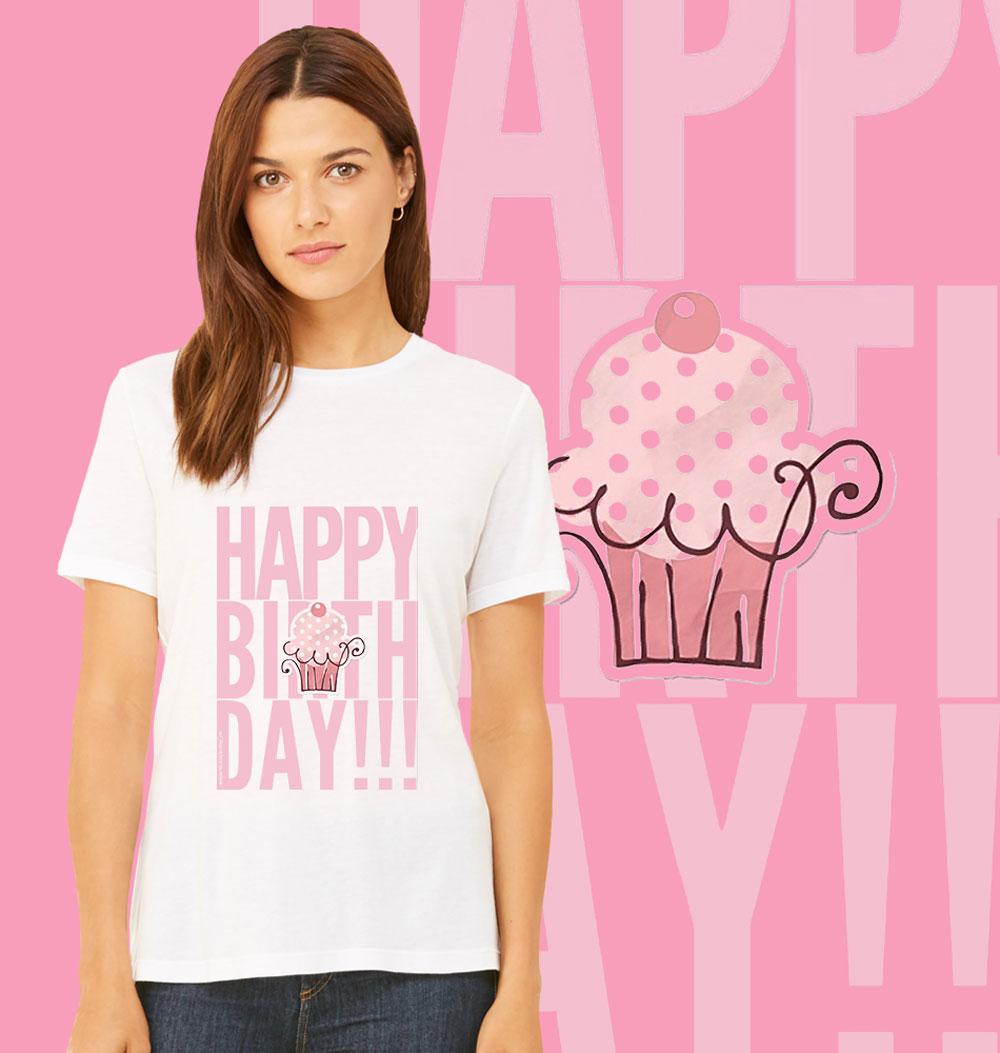 Women s Pink Birthday Baby T-shirt  2c89210ed